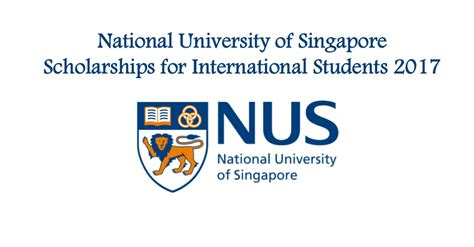 Mba Funding For International Students by National Of Singapore Scholarships For