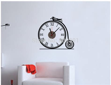 bedroom clock 803free shipping 3d creative bicycle shaped wall clock for