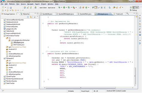 calendar java layout android development 101 part 5 droiddraw information