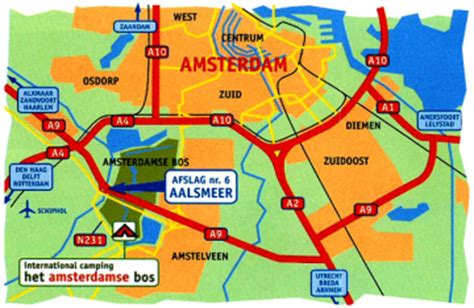 netherlands hostels map bostel amsterdamse bos csite in amsterdam