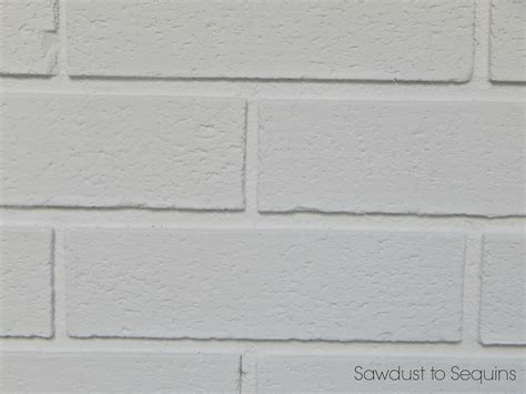 paint a brick home how to sawdust to sequins