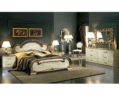 Bedroom Furniture Sets Ready Made Platform Bedroom Set Empire Classic Style Made In Italy 33b501