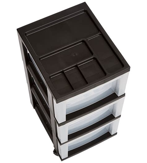 three drawer storage three drawer storage cart black in storage drawers
