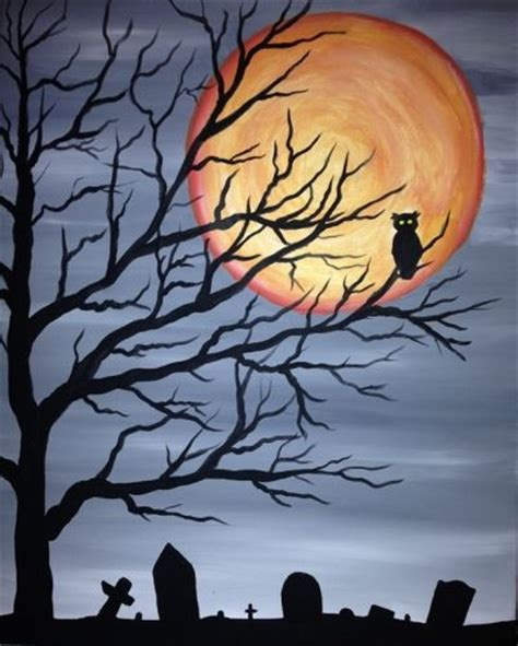 paint nite tree spooky tree owl oct 19 paint nite poststalehouse every