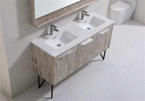 Quartz Countertops Bathroom Vanities by Bosco 60 Quot Modern Bathroom Vanity W Quartz Countertop And