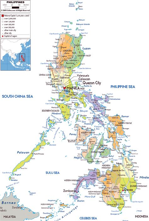map of phillipines maps of philippines detailed map of philippines in