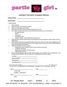 Sle Wedding Planner Contract by Planner Contract Template Search Plan A Wedding Planners