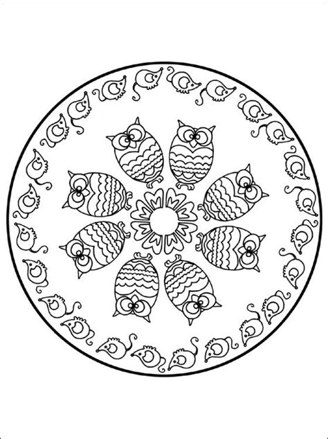 free printable owl mandala coloring pages coloring mandalas fruit mandala coloring page with owl