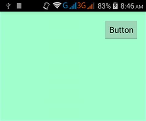 layout android align right right button android exles