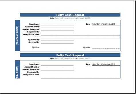petty cash request slip sample template word document