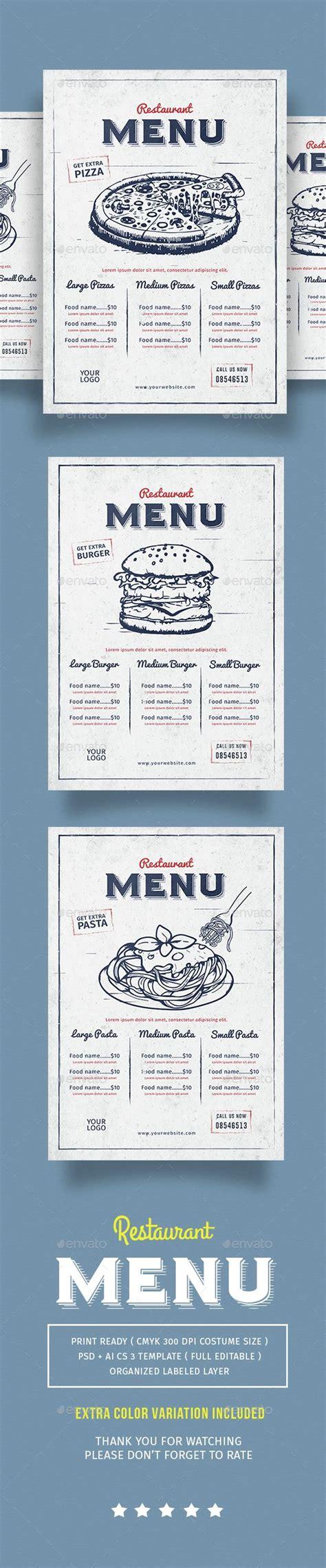 design menu vintage vintage restaurant menu design vintage och inspiration