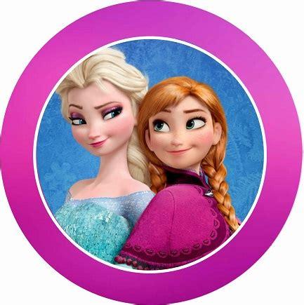 etiquetas circulares y toppers de frozen para decorar etiquetas de frozen para imprimir gratis princesas disney