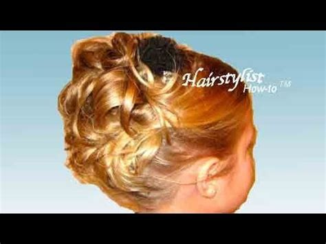 father daughter dance hairstyles for girls up do hairstyle hair tutorial high up in curls youtube