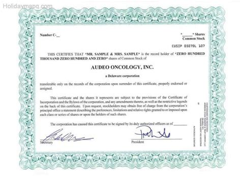 Template Of Share Certificate Unique Back Of Stock Certificate Corporate Kit Send In Stock Back Of Stock Certificate Template