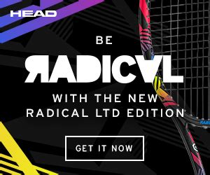 Radical Graphene Limited Andy Murray Black Neon radical limited edition tennis