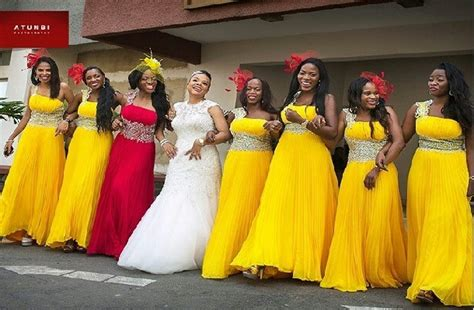 brides maid on yellow from bellanaija latest bridesmaid dresses styles and fashion pictures