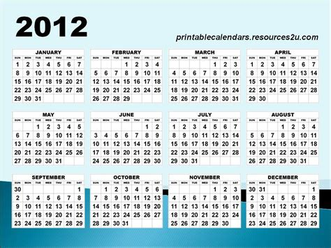 templates free 2012 2012 calendar with holidays printable