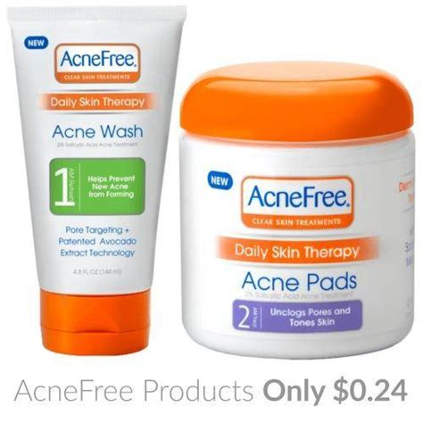 Acne Free Coupons Printable acnefree coupons 0 24 wash cleansing pads