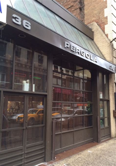 pergola new york pergola restaurant and lounge opens in nomad today