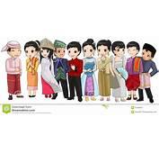 Grupo De Gente Asia Sudoriental Con Diversa Raza