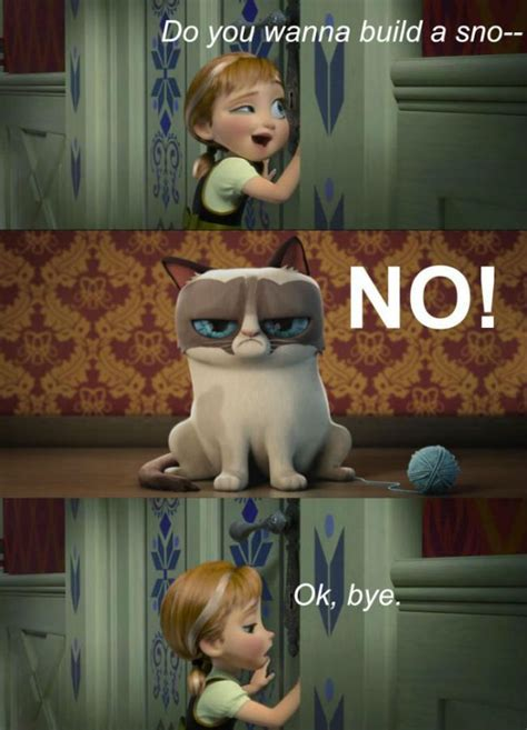 Make A Grumpy Cat Meme - frozen featuring grumpy cat meme meme collection