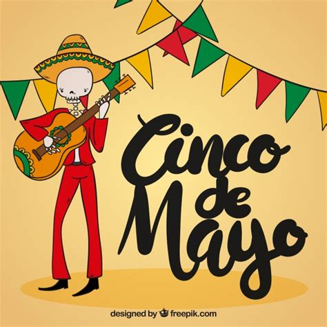 cinco de mayo background cinco de mayo background with mexican skull the