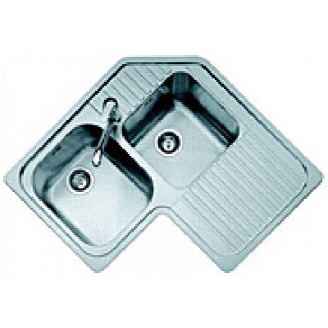 lavello inox 2 vasche jollynox lavello 1io9090d omnia inox 83x83 2 vasche angolo