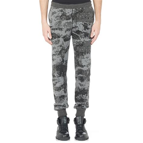 grey patterned joggers balenciaga stone jacquard joggers in gray for men lyst