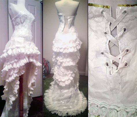 How To Make A Dress Out Of Tissue Paper - creates a beautiful dress using 11 rolls of toilet paper