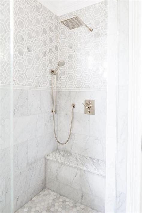 marble bathroom showers 1000 ideas about hex tile on bathroom