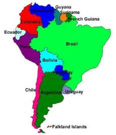 labeled map of and south america labeled south america map clipart best