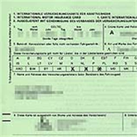 Sterreich Auto Gr Ne Versicherungskarte by Gr 252 Ne Versicherungskarte Wo Empfohlen Wo Vorgeschrieben