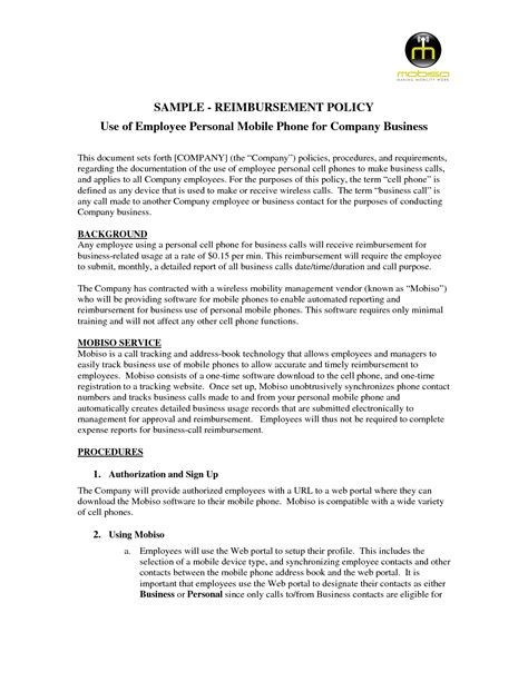 bakedinseattle biz company cell phone policy template