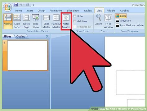 3 Ways To Add A Header In Powerpoint Wikihow Ppt Slide 2