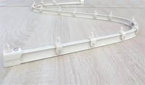 mini rail de rideaux cintrable 224 la finition blanc