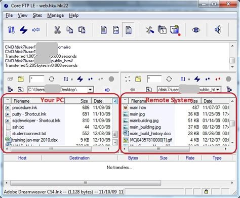 sftp default how to upload a file to web hku hk using coreftp
