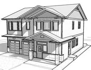 3d House Sketch house drawing things to draw white houses house plans pilots forward