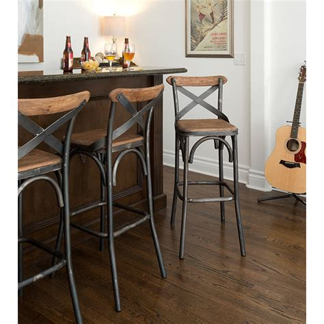 Reclaimed Wood Counter Height Stools by Iron Reclaimed Solid Wood Stools Counter Or Bar Height