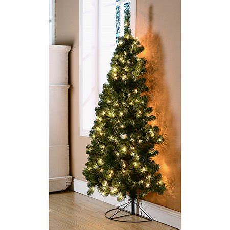 walmart in store pre lit slim tree on sale time 6ft rockport walmart