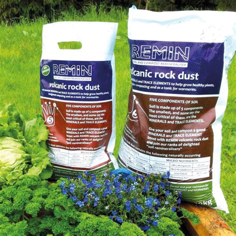 Remin Volcanic Rock Dust 10kg D T Brown Garden Rock Dust Rock Dust Gardening