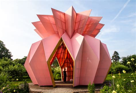 origami pineapple pavilion opens  berrington hall