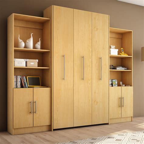 Bookcase Murphy Bed Stella Home Furniture S208 5 Esa Storage Unit Atg Stores