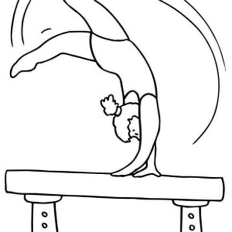gymnastics coloring pages beam gymnastic coloring page gymnastic coloring page color