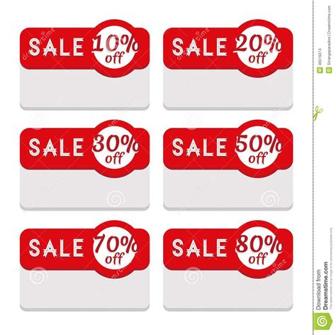 sales tags template sale tag template featuring various discount percentage