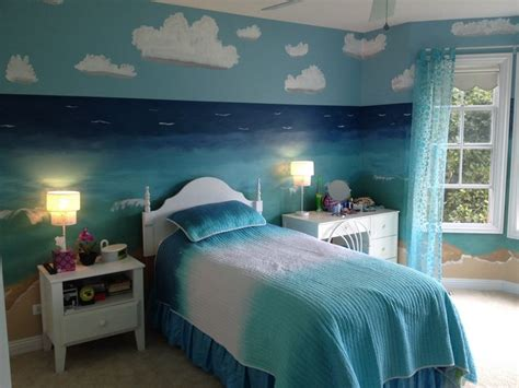 beach themed bedroom paint colors beach theme bedroom mermaid loft ideas pinterest