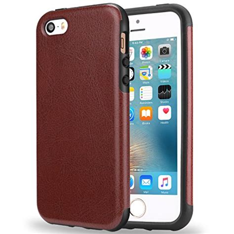 Iphone 5 Premium Backcase Look Leather Tpu tendlin iphone se premium leather back tpu
