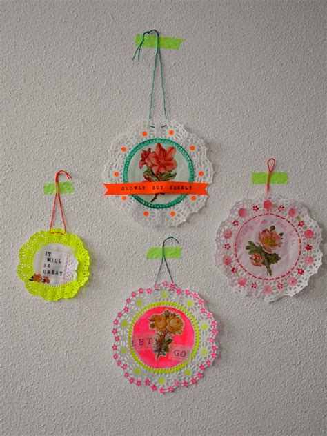 bunting one paper craft doily doilies one bunting away