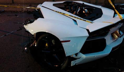 lamborghini aventador in half lamborghini aventador splits in half following crash in
