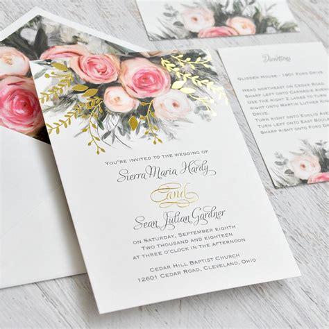 Garden Wedding Invitations by Ethereal Garden Foil Invitation Invitations By