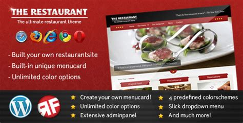 themeforest restaurant the restaurant themeforest wordpress theme wordpress